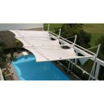 tensile structure for indoor swimming pool 500x500 150x150 - آلاچیق مدرن و سایبان استخر پارچه ای