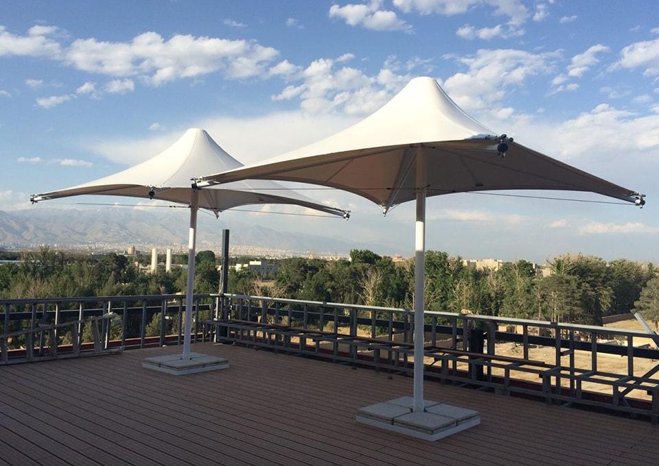 چادری تراس شرکت آرد و نان1 min - سازه چادری و الاچیق مدرن