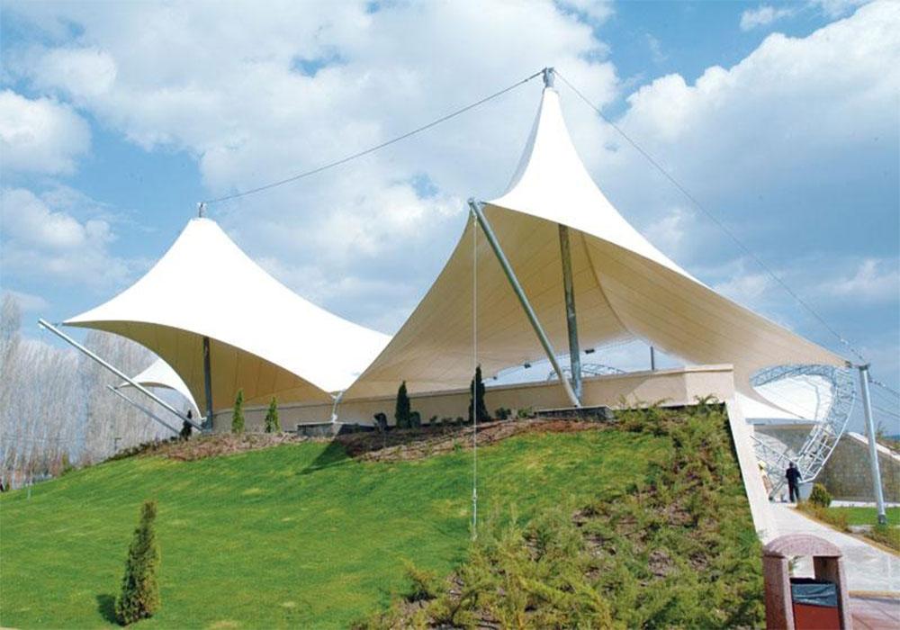 9 - سازه های چادری مخروطی