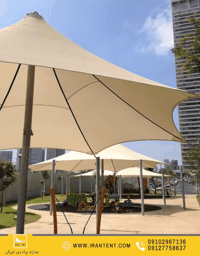 استخر 15 - سازه چادری کششی فضای باز